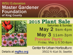 2015 MG Plant Sale May 2-3 at CUH