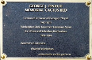Dedication Plaque at Pinyuh Cactus Bed in Bellevue Demonstration Garden