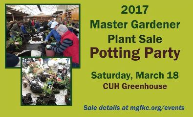 MGFKC Plant Sale Potting Party