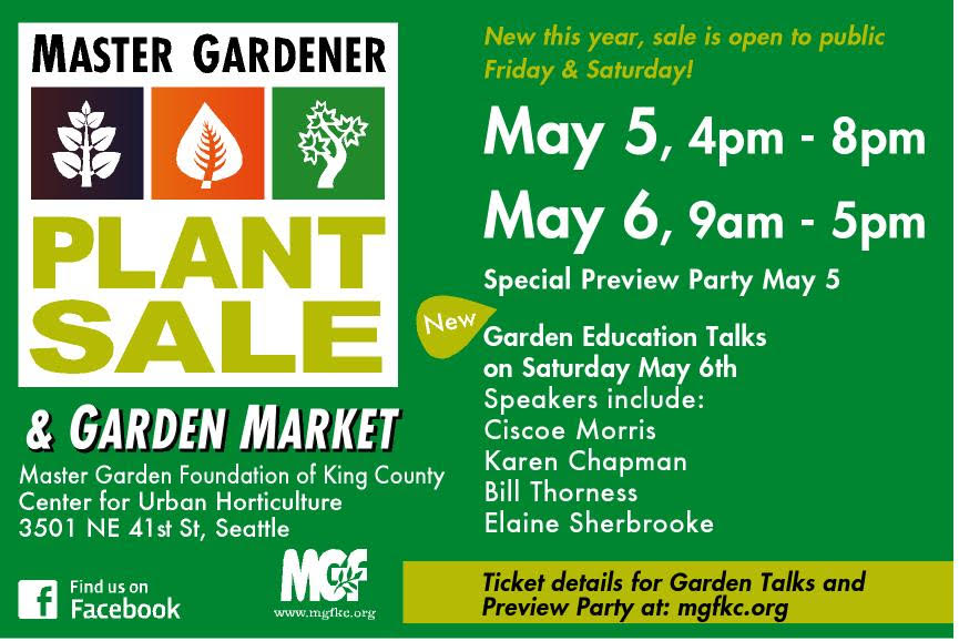 Master Gardener Foundation Of King County  Master Gardener Plant Sale Download A Poster Pdf